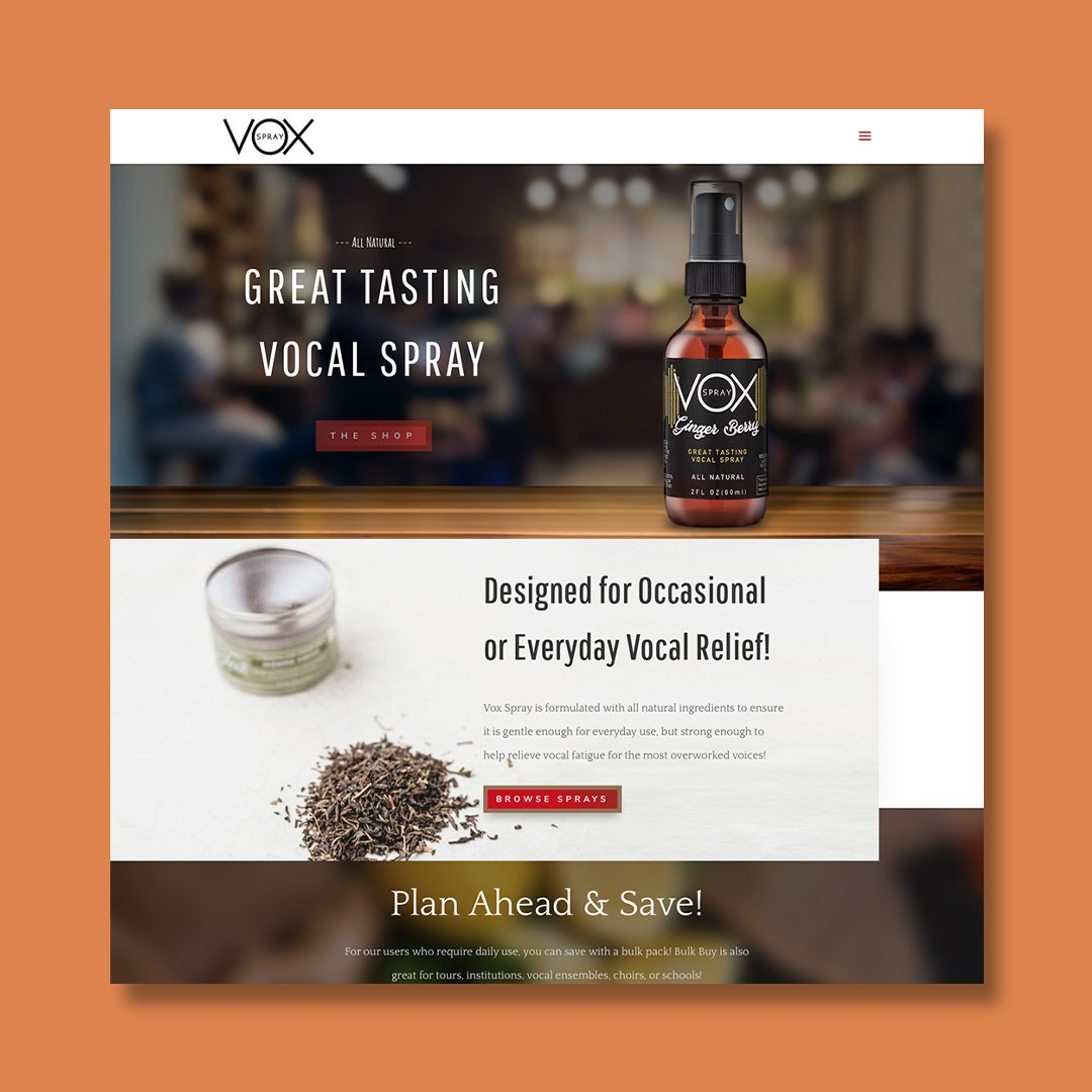 Vox Spray Website