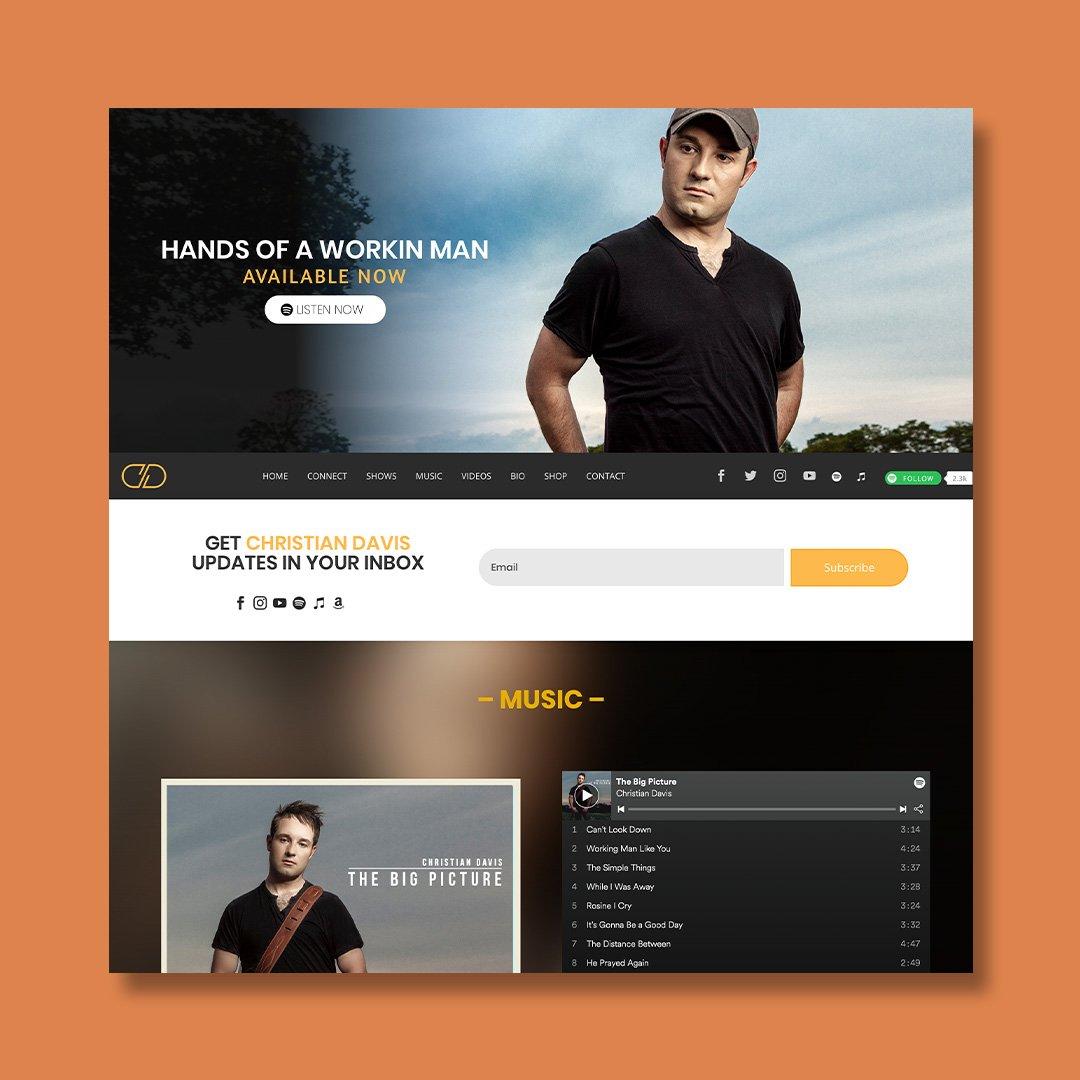 Christian Davis Website