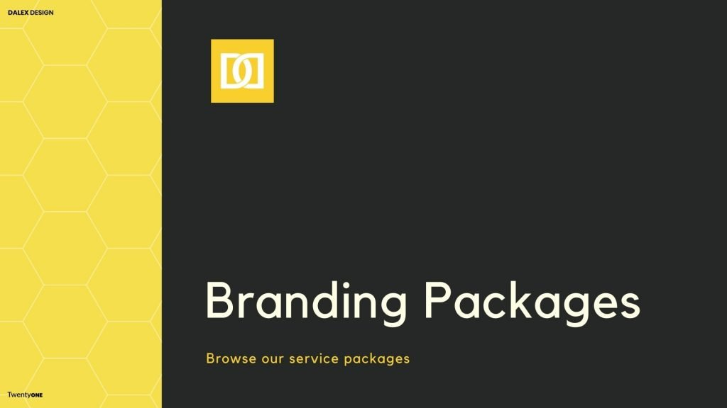 Yellow Black Design Studio Brand Guideline Presentation